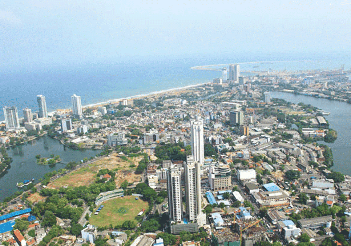colombo aerial view