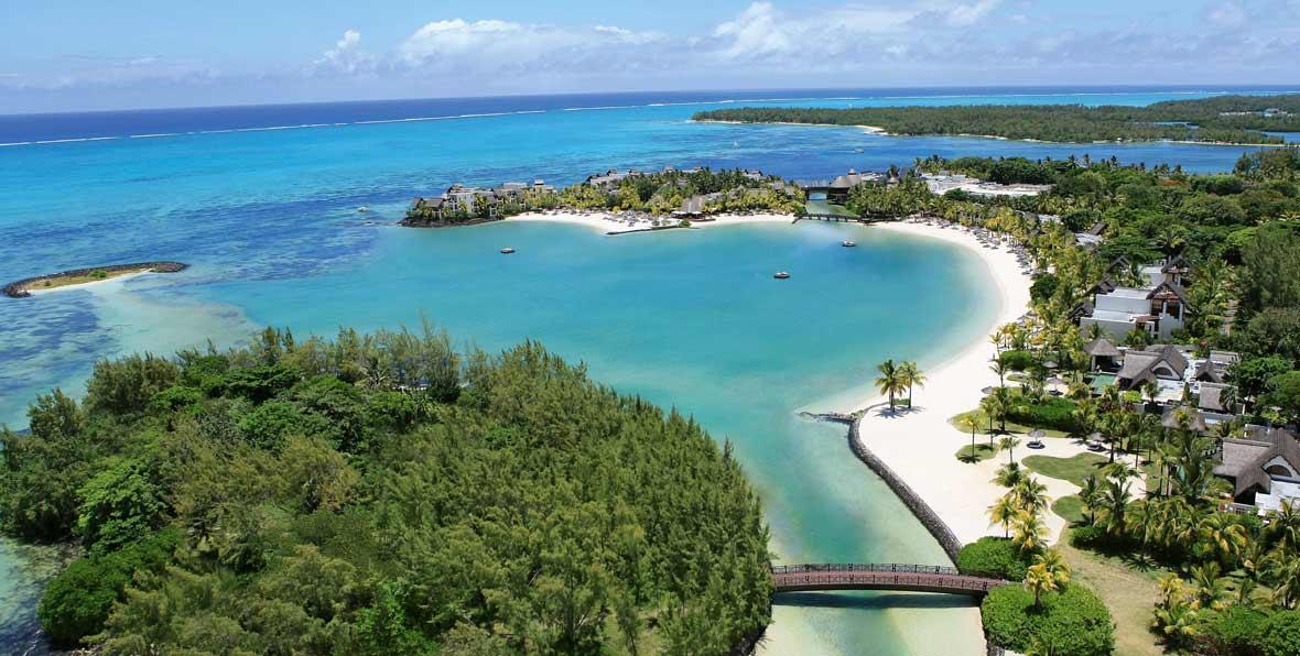 vista aérea de Isla Mauricio