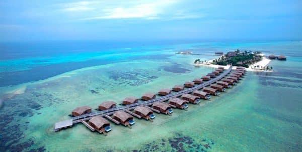 Finolhu Maldives: aerial view