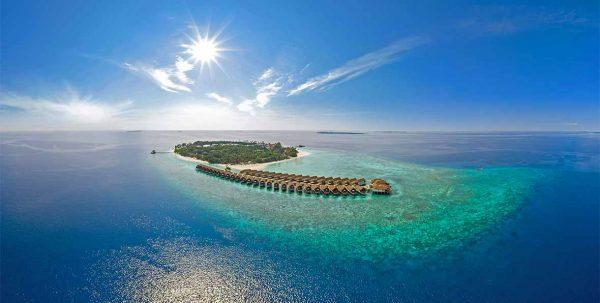 Reethi Faaru Resort, vista aerea