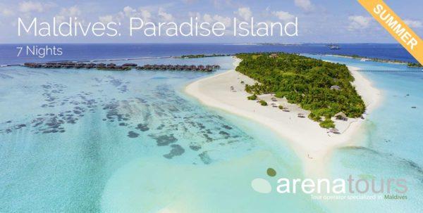 oferta de viaje a maldivas todo incluido en Paradise Island