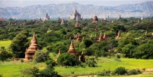 viaje a birmania: vista panoramica de la zona de bagán
