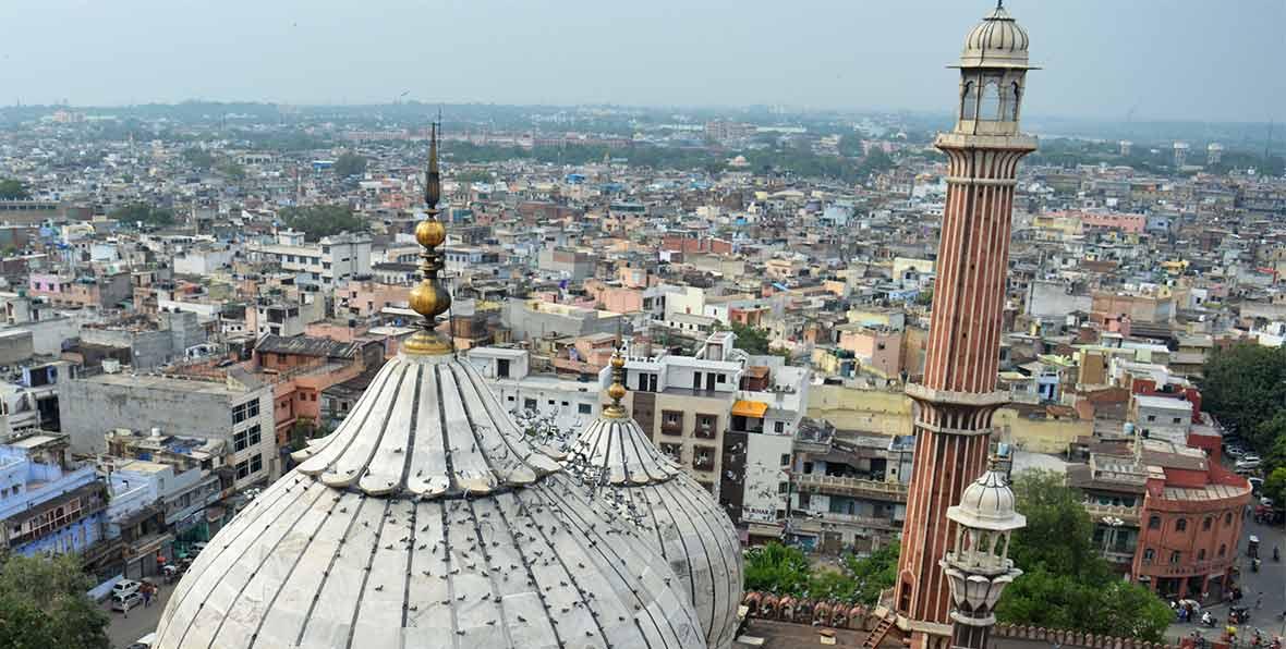 viaje a India: visita de la mezquita Jama Masjid