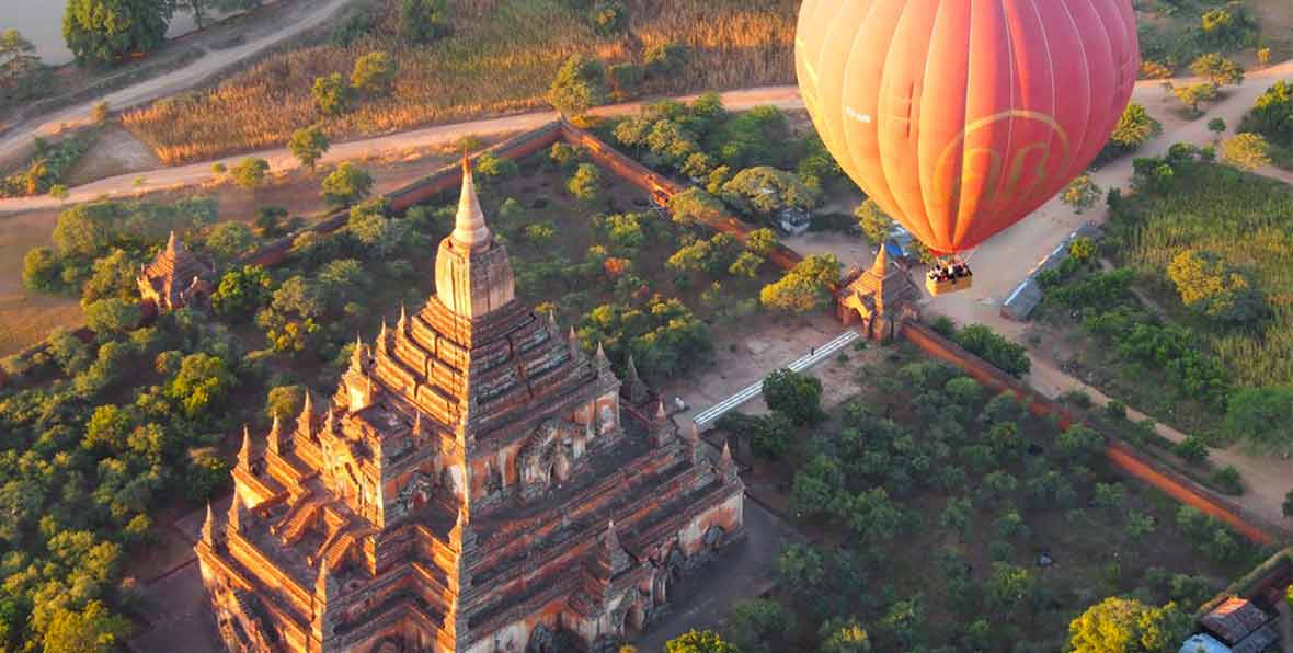 viaje en Myanmar en globo