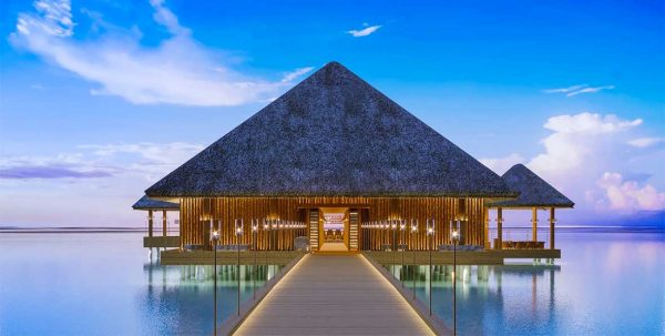 arrival jetty de Joali Maldivas