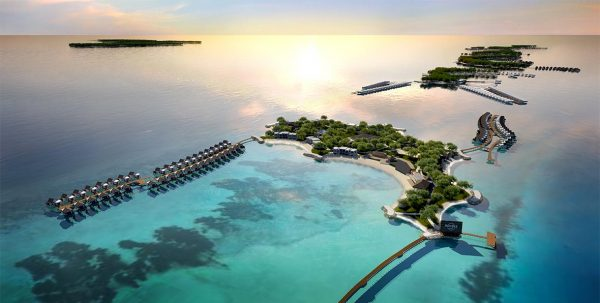 vista aerea Hard Rock Hotel Maldives