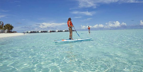 stand-up paddle en Riu Atoll Maldives