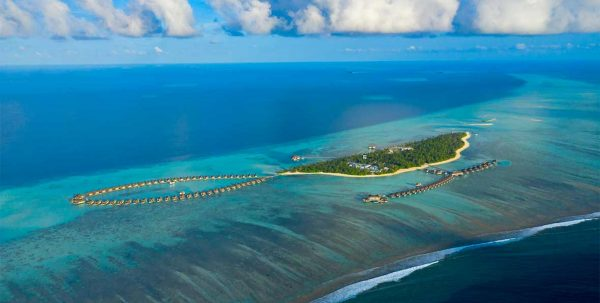 vista aérea de Pullman Maldives Maamutaa
