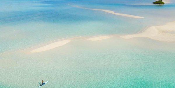 la lengua de arena de Pullman Maldives Maamutaa