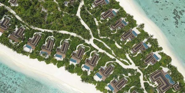 las villas de playa de Pullman Maldives Maamutaa