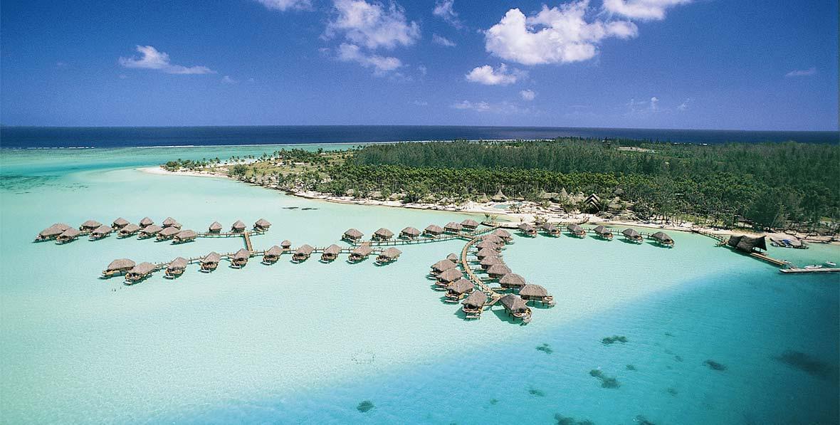 las villas en el agua de Bora Bora Pearl Beach