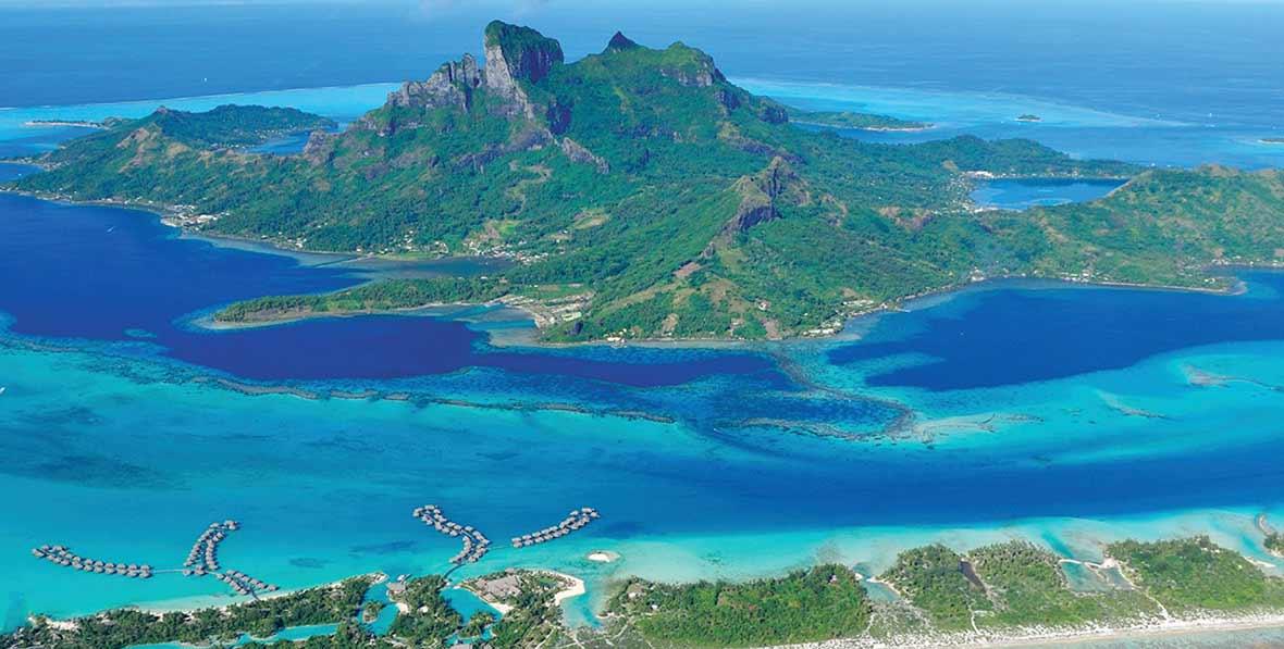 paisajes naturales en Four Seasons Resort Bora Bora