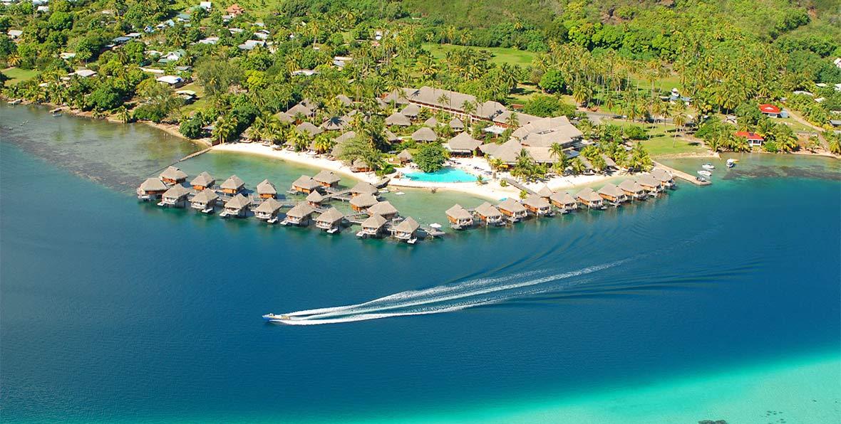vista aerea de Manava Beach Resort & Spa Moorea