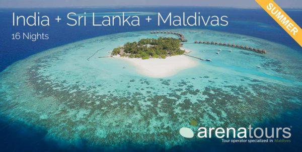 oferta de viaje combinado india + sri lanka + maldivas, 13 noches verano 2020