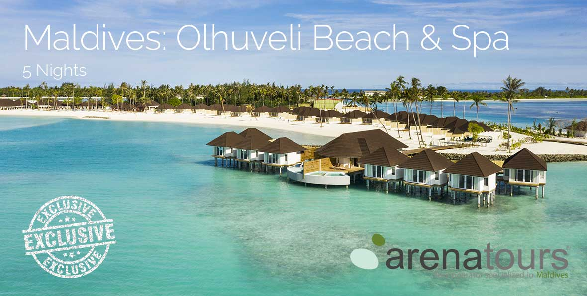 Offre de voyage aux Maldives à Olhuveli Beach & Spa Resort, 5 nuits