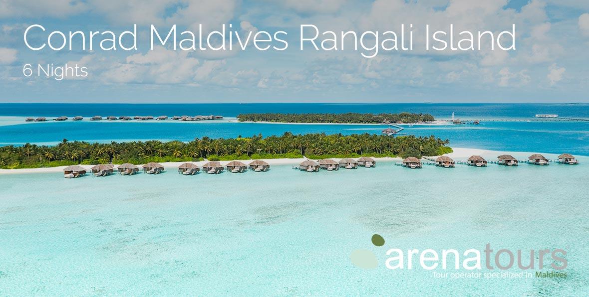 Oferta de viagem às Maldivas: 6 noites no resort Conrad Maldives Rangali Island
