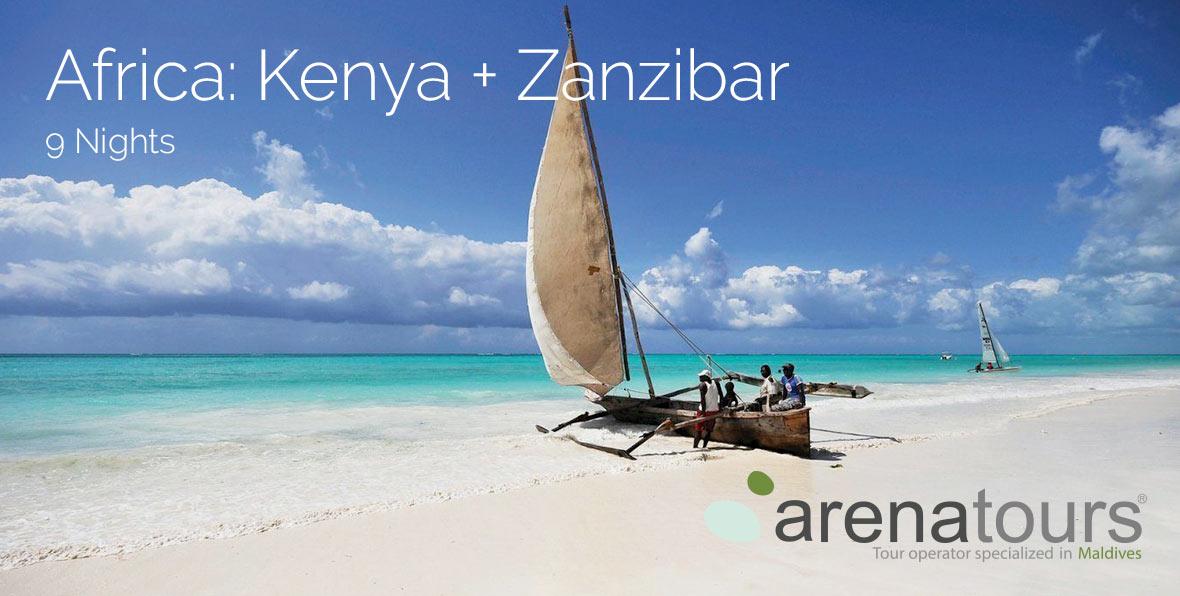 Oferta de viaje a África: Safari en Kenia + Playas de Zanzibar, 9 noches