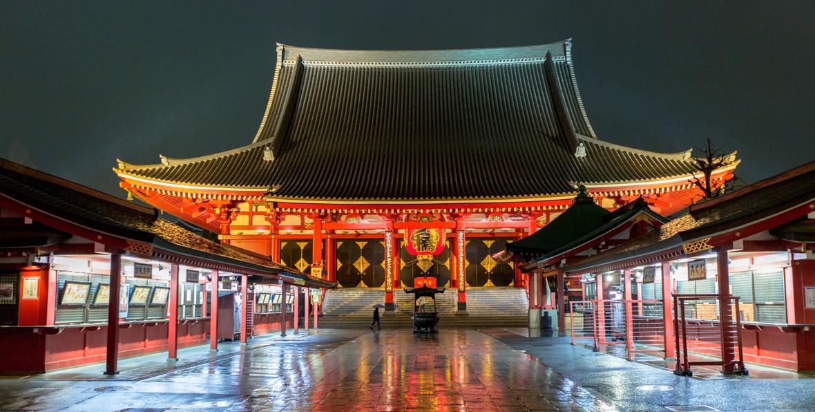 Calle comerciale en Japón