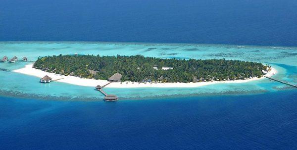 vista aérea Kihaa Island Resort