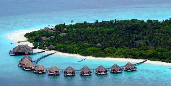 Adaaran Prestige Water Villas vista aérea